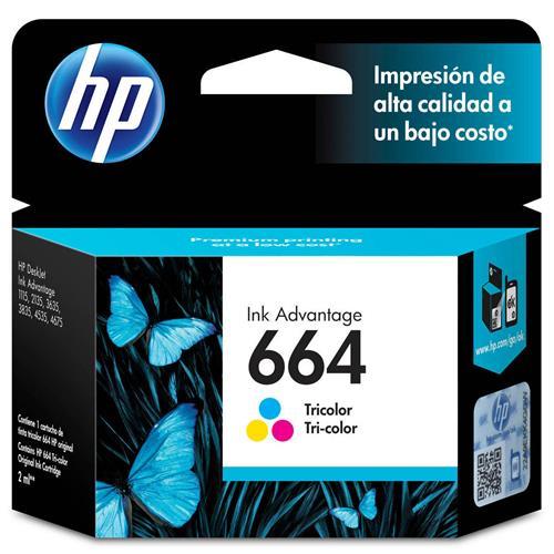 cartucho de tinta hp 664 colorido f6v28ab 5696029