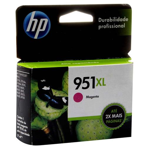 Cartucho de Tinta HP OfficeJet 951XL Magenta CN047AB 4441095